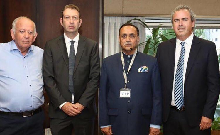 Israeli Bourse President Hosts CM of Gujarat