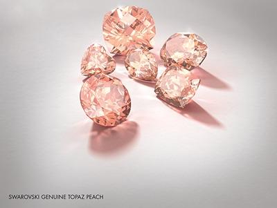 Swarovski Innovations Genuine Topaz Peach